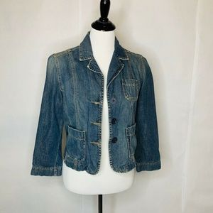 Abercrombie & Fitch Denim Jacket Blue Cotton M
